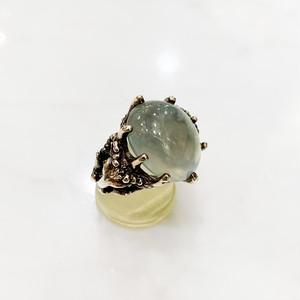 プレナイト(葡萄石)の銀の山羊リング
