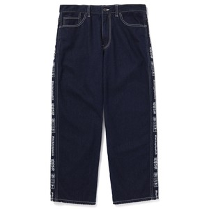 BLACK EYE PATCH / HANDLE WITH CARE DENIM PANTS (SOLD STITCHED)