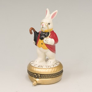 時計ウサギ ミニケース 小物入れ【ラビット】