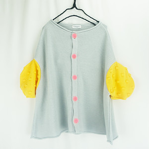 CIRCLE SLEEVES KNIT CARDIGAN / LL