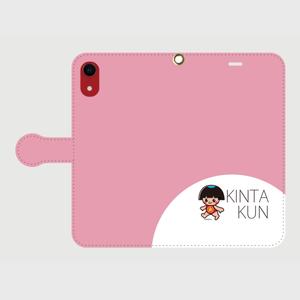 手帳型ケースiphoneXR用 ピンク