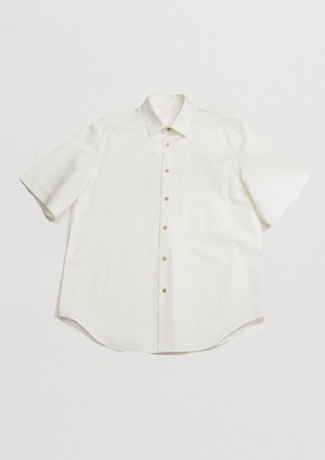 CLASSIC COLLARSHORT-SLEEVED SHIRTS(WHT)