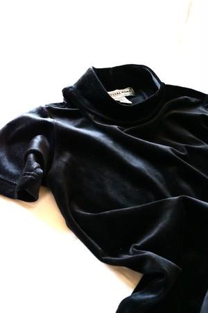 Vintage velour hi neck shirt