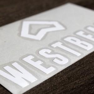 Westbeach新ステッカー 大サイズ B(ダイカット)White