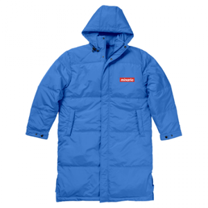 minario / BOX LOGO BENCH COAT ROYAL