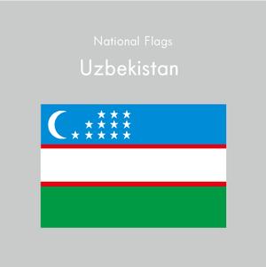 国旗ステッカー ウズベキスタン