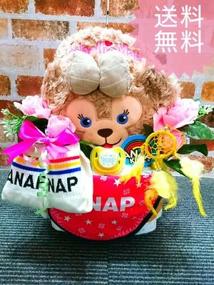 おむつケーキ/オムツケーキ/おむつベビーカー/ANAP/アナップ/出産祝い/誕生祝い/お祝い/ディズニー/シェリーメイ/ダッフィー/ステラルー/おむつバイク/ベビーギフト/ベビーシャワー