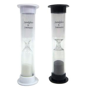 【まとめ買い=12個単位】(342-05)砂時計 約3分計 アソート(色おまかせ)