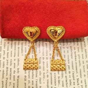 MOSCHINO heart motif earring