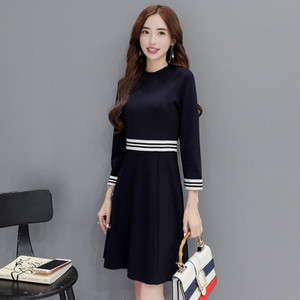 【dress】Women's commuter round neck formal dress