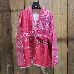 Children of the discordance / VINTAGE BANDANA PATCHWORK CONCHO JACKET / RED / size 2