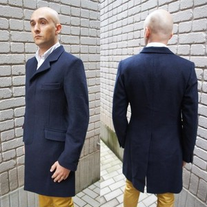 Crombie Coat(Chesterfield Coat)  D.NAVY  2サイズ