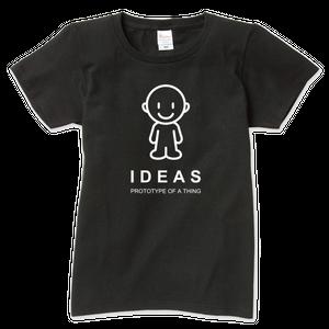 IDEAS/アイコンTシャツ 703W-BK-レディース