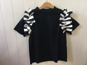 zozio(ゾジヲ) Lisa Tシャツ navy black