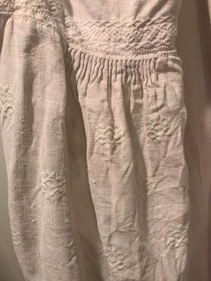 ヴィンテージ ウクライナ刺繍 民族衣装 リネンワンピース ホワイト