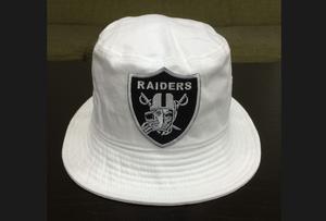 RAIDERS PATCH HAT   -WHT-