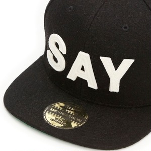 "SAY! / セイ!|  WOOL BASEBALL CAP "" FELT-SAY "" - Black"