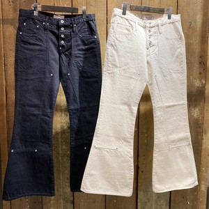 SUGARHILL シュガーヒル / Washed Double Knee Bell Bottom Pants