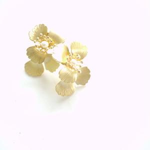 【flua bridal】ブライダルアクセサリー ヴィンテージ  パール ピアス イヤリング