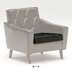 【カリモク60】ロビーチェア 交換用座面クッション スタンダードブラック