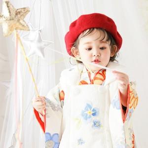 七五三 着物レンタル  【H261】17772 ブランド着物 シュガーケイ 「Sugar Kei」  女の子 2歳 3歳和装 参拝 お宮参り 被布 七五三着物 おしゃれ