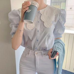 刺繍襟スウィートシャツ