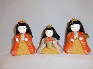 木目込み三人官女 three dolls(No3)