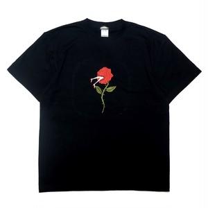 刺繍BIG Tシャツ バラ