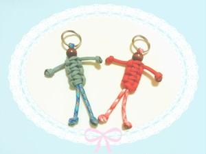 パラコード キーホルダー(人形)ペアセット