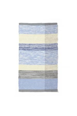 Aya Textile / TRASMATTOR(トラースマッタ) 手織りの裂き織りラグ  ブルー・イエロー