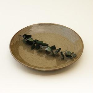 常陸窯いそべ陶苑 プレート Φ24 灰釉(RF) 笠間焼 Kasama Pottery
