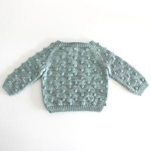 Misha and Puff   Popcorn Sweater BABY Sage