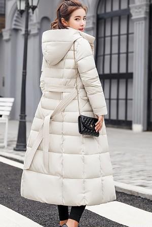 ダウン風コート レディース ロングコート フード付き 無地 中綿コート カジュアル 冬服 防寒