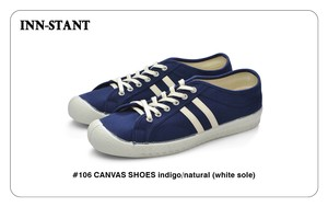 #106 CANVAS SHOES indigo/natural (white sole) INN-STANT インスタント 【消費税込・送料無料】
