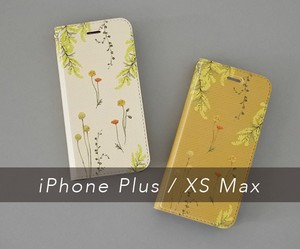 黄色い花たちのiPhoneケース手帳型〔大型モデル専用ページ〕