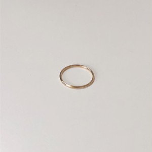 [92.5 silver] simple ring (GOLD)