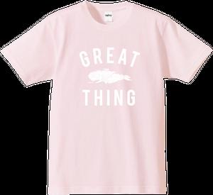 ダライアス Tシャツ グレートシング ライトピンク