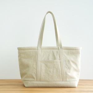 CANVAS TOTE FL / GRAY BEIGE