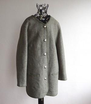 [Creation Atelier GJ] カラーレス ウールジャケット オリーブグレー 表記(44)
