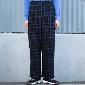 Wool Plaid Slacks