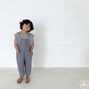 «予約»«ジュニア» go.u linen overall 2colors リネンオーバーオール ジュニアサイズ