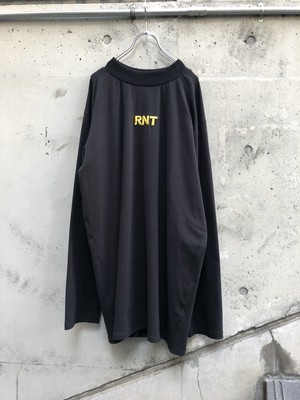 【RICE NINE TEN】HIGH NECK 3D RNT L/S TEE『black』