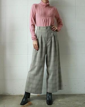 wool chcked pants