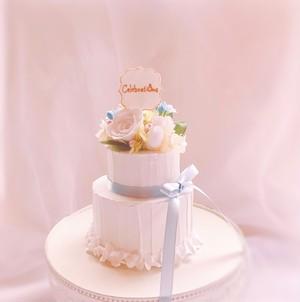 二段のクレイケーキ