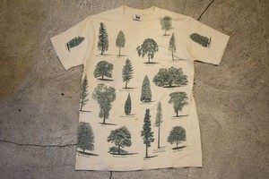 USED Tree T-shirt 80s made in USA T0337