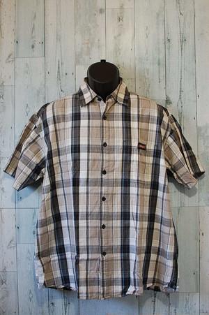 DICKIES(ディッキーズ) チェックシャツ半袖 XL RankB☆アメカジ古着ファッション