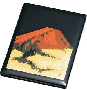 ブック型ピクチャー 黒塗 赤富士