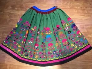 ヴィンテージグジャラート刺繍スカート B291810