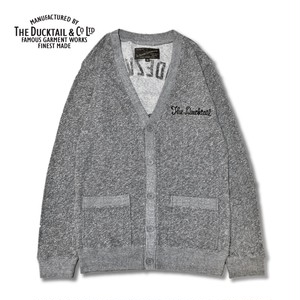 "DUCKTAIL CLOTHING ""RENDEZVOUS"" HEATHER GRAY ダックテイル クロージング スウェット カーディガン"