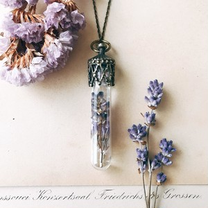 Bottle pendant -Lavender bouquet-